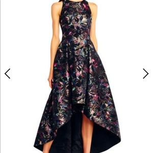Aidan Mattox floral jacquard fit & flare gown